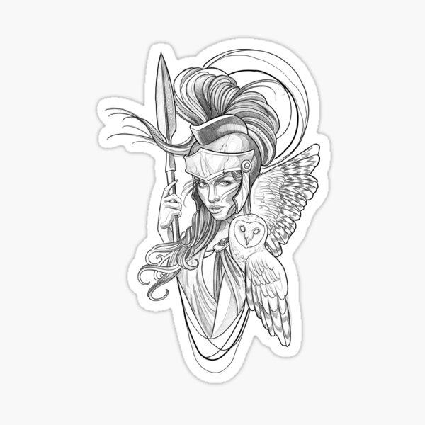 Athena goddess Sticker