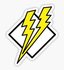 double lightning Sticker