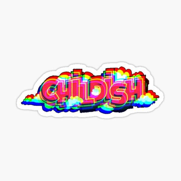 TGFBRO Glitch Childish Sticker