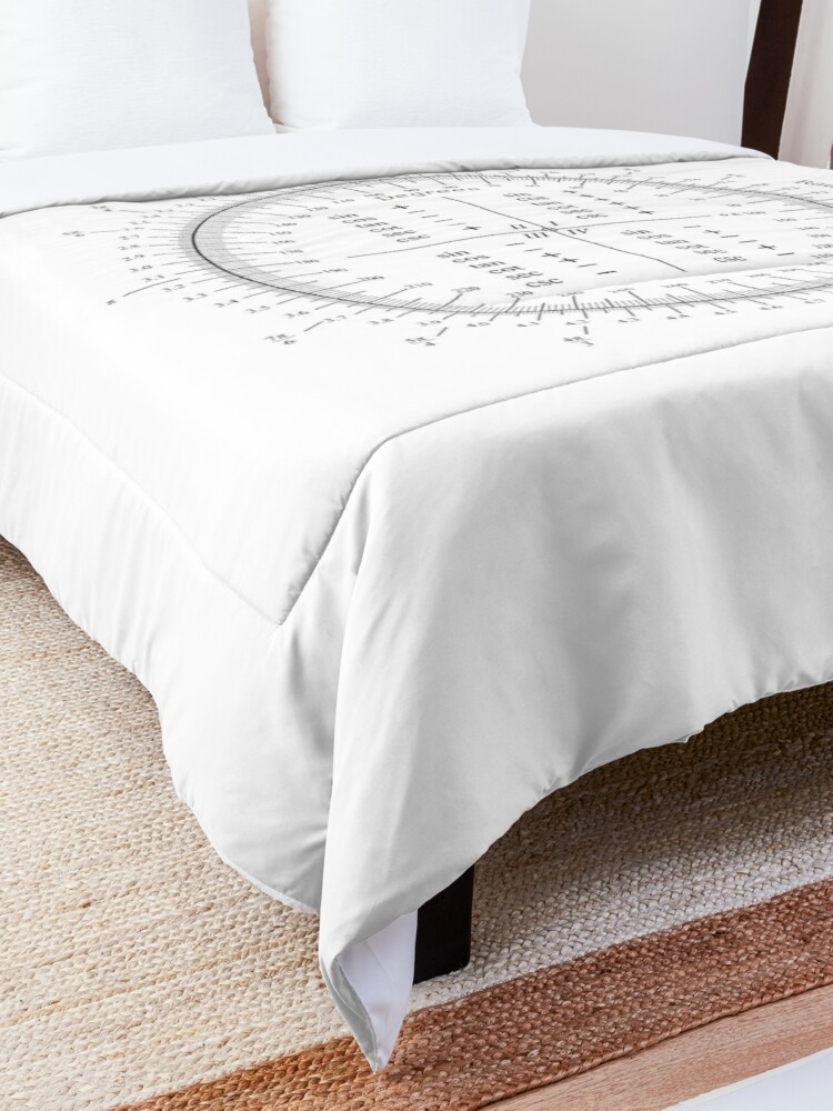 Alternate view of The unit circle Comforter