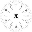 Pi Radians Clock face - Unit Circle v001 by Rupert Russell