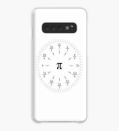 Pi Radians Clock face - Unit Circle v001 Case/Skin for Samsung Galaxy