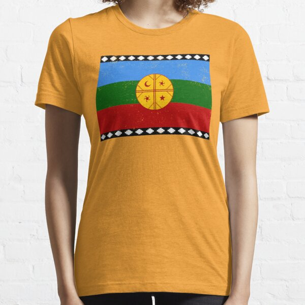 Bandera Mapuche, Mapuche Flag, Indigenous People from Chile, Patagonia and Southwestern Argentina Essential T-Shirt