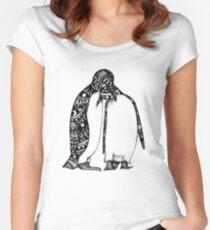 Penguin Hug Women's Fitted Scoop T-Shirt