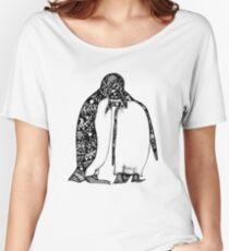 Penguin Hug Women's Relaxed Fit T-Shirt