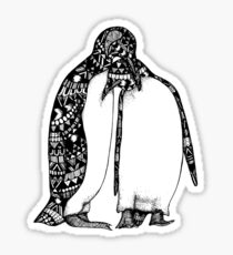 Penguin Hug Sticker