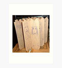 drawings on cardboard inserts, photo #1 Art Print