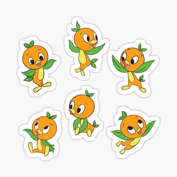 Orange Birds Sticker