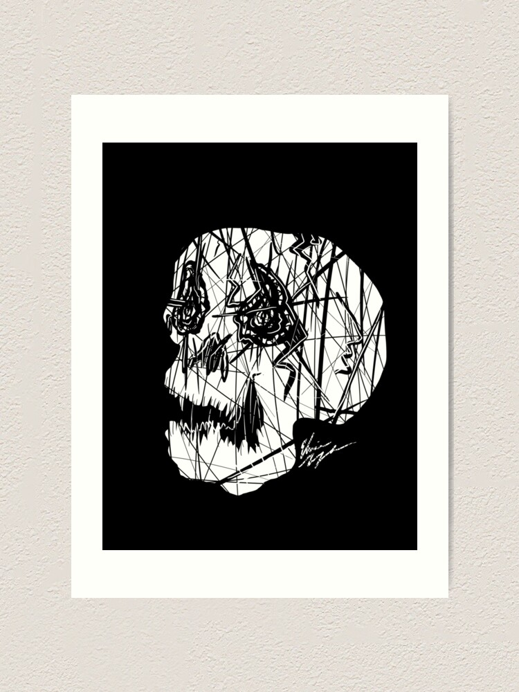 Alternate view of Slashed Skull Art Print