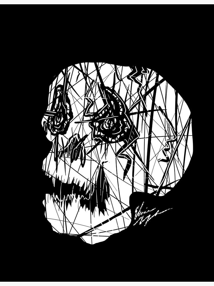 Slashed Skull by GroglioArt
