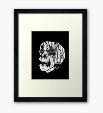 Slashed Skull Framed Print