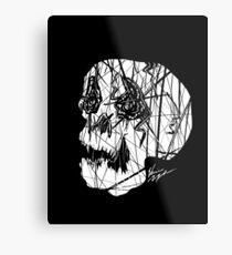 Slashed Skull Metal Print