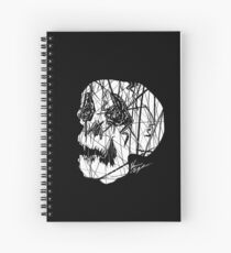 Slashed Skull Spiral Notebook