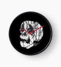 Slashed Skull Clock