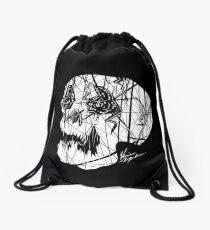 Slashed Skull Drawstring Bag