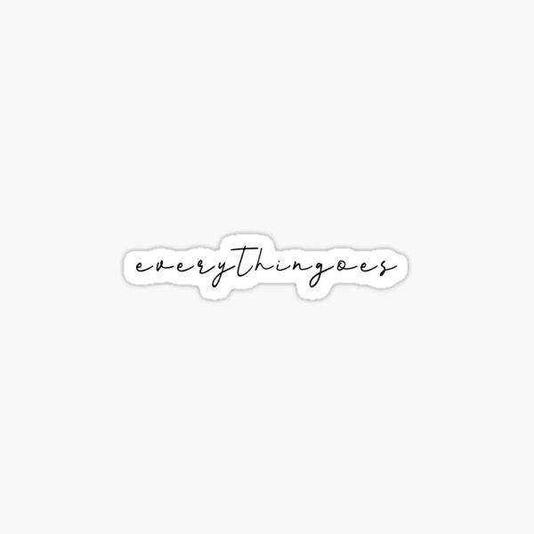 Everythingoes RM mono Sticker
