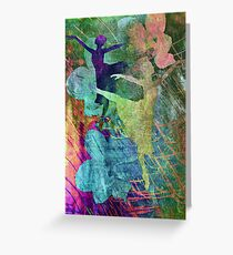 Ballet. Painting. Greeting Card