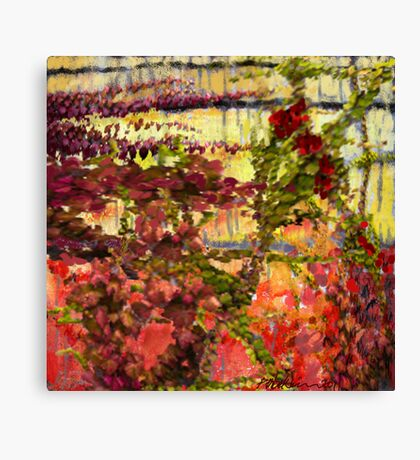 """Garden Wall"" Canvas Print"