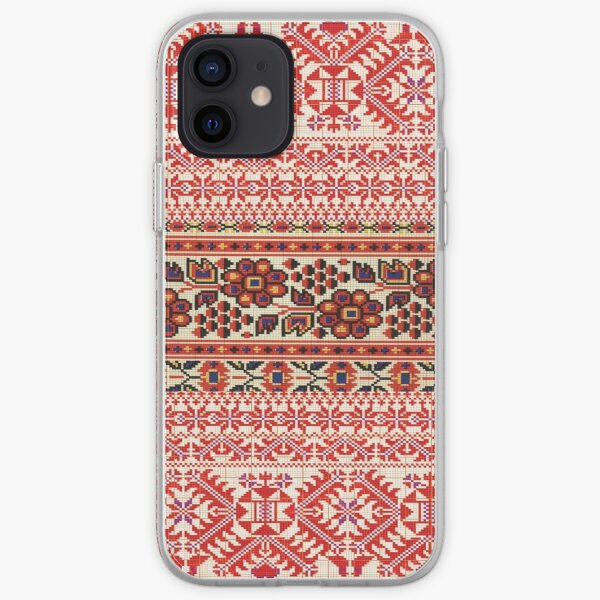 Ukrainian embroidery design collage iPhone Soft Case