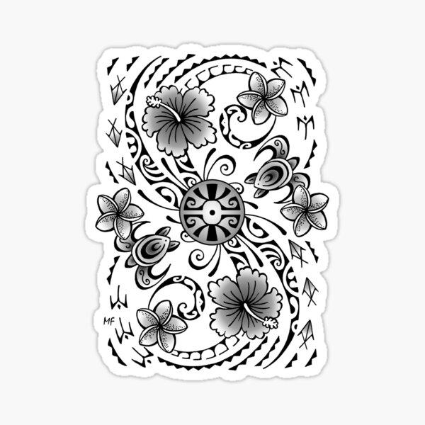 Polynesian tatto art Sticker
