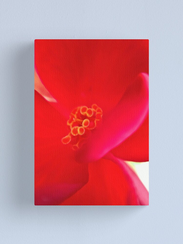 Alternate view of Red Flower Canvas Print