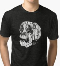 Slashed Skull Tri-blend T-Shirt