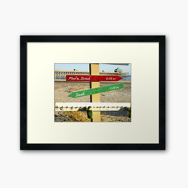 To the Beach by Jan Marvin Framed Art Print