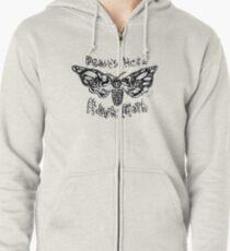 Death's Head Hawk Moth Zipped Hoodie