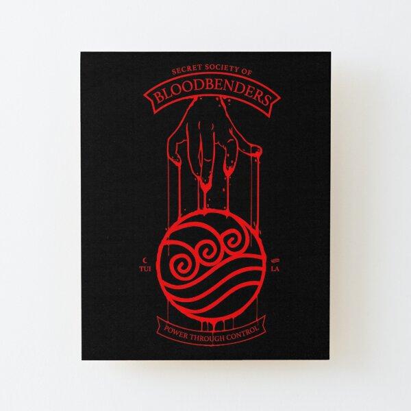 Bloodbender Secret Society Avatar-Inspired Design Wood Mounted Print
