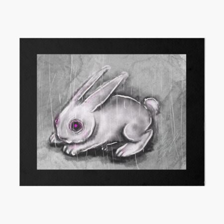 Bunny Art Board Print