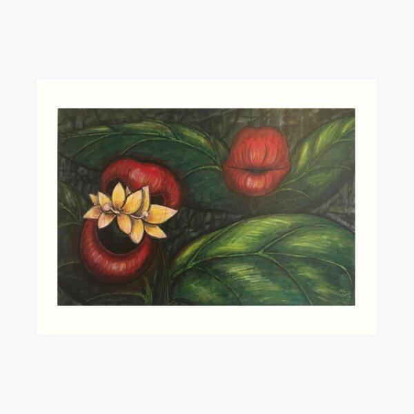Floral Hellscape V Art Print