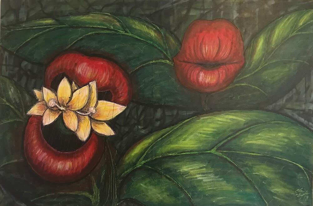 Floral Hellscape V by GroglioArt