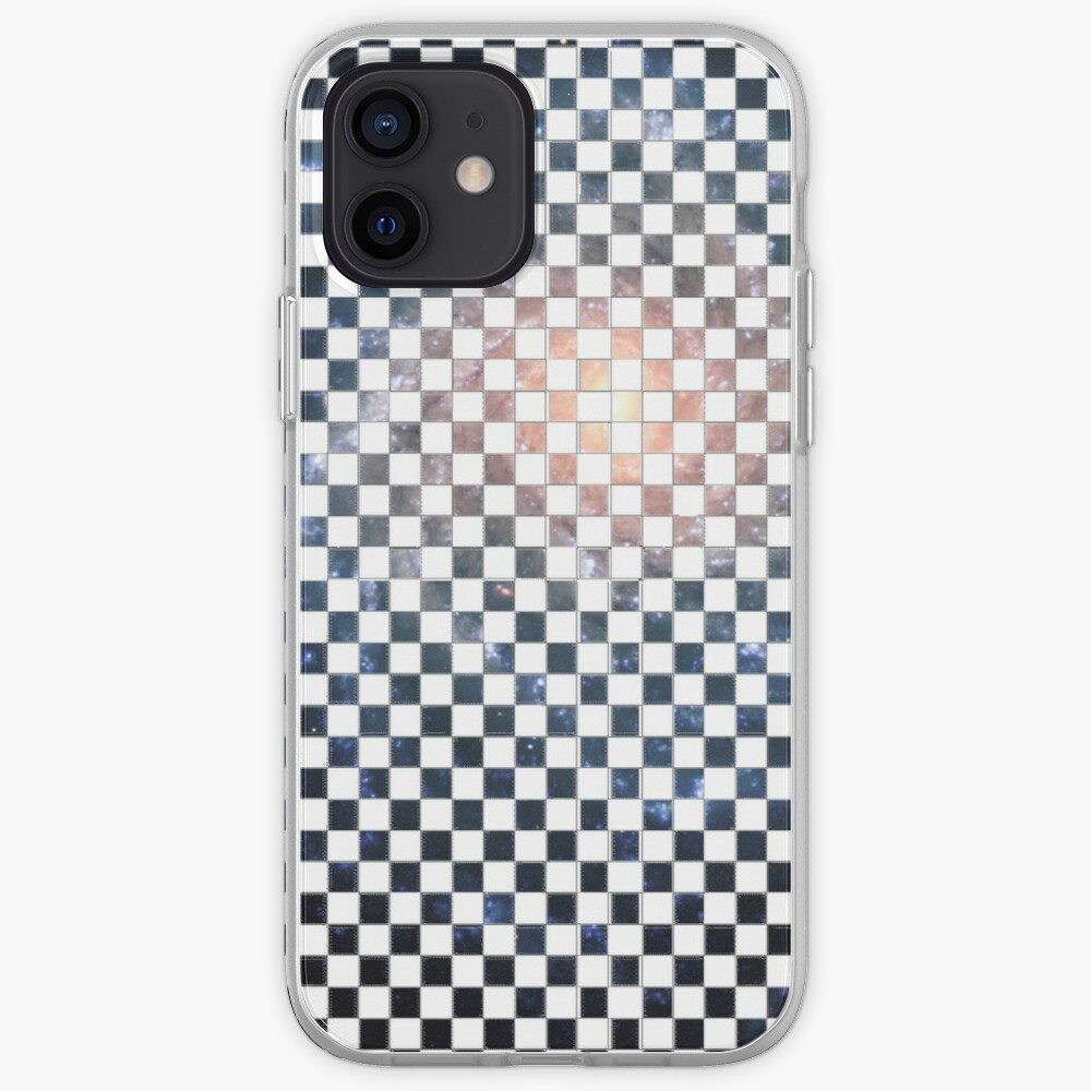 Box Painted as a Checkerboard and #Galaxy #SpiralGalaxy #MilkyWay, Astronomy, Cosmology, AstroPhysics, Universe iPhone Case