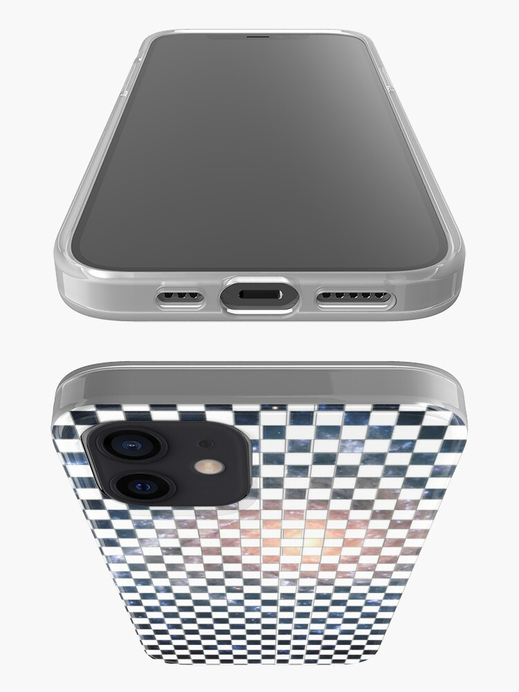 Alternate view of Box Painted as a Checkerboard and #Galaxy #SpiralGalaxy #MilkyWay, Astronomy, Cosmology, AstroPhysics, Universe iPhone Case
