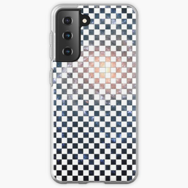 Box Painted as a Checkerboard and #Galaxy #SpiralGalaxy #MilkyWay, Astronomy, Cosmology, AstroPhysics, Universe Samsung Galaxy Soft Case