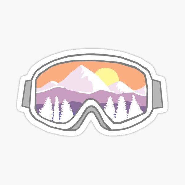 mountain reflection goggles Sticker