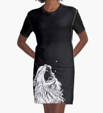 Colors/Black Screaming Thurston Meme Cat Graphic T-Shirt Dress