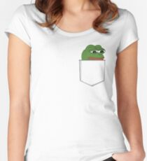 Sad Pocket Pepe Women's Fitted Scoop T-Shirt