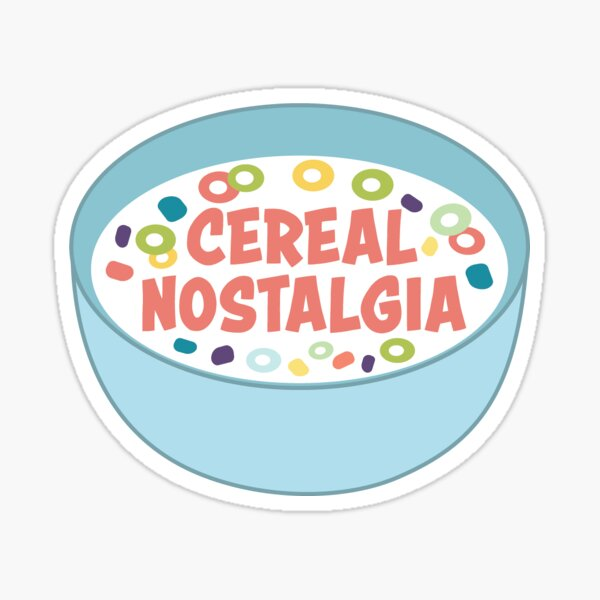 Cereal Nostalgia Sticker