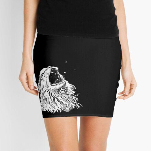 Colors/Black Screaming Thurston Meme Cat Mini Skirt