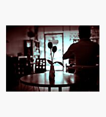 Restaurant table. Photographic Print