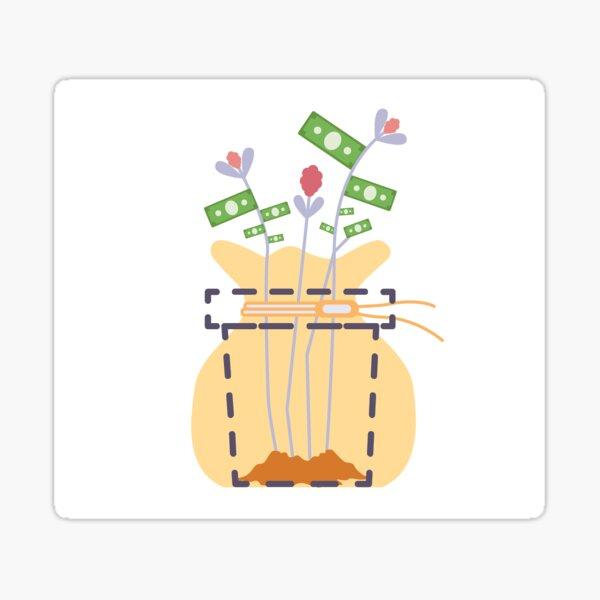 Flower Money Sticker