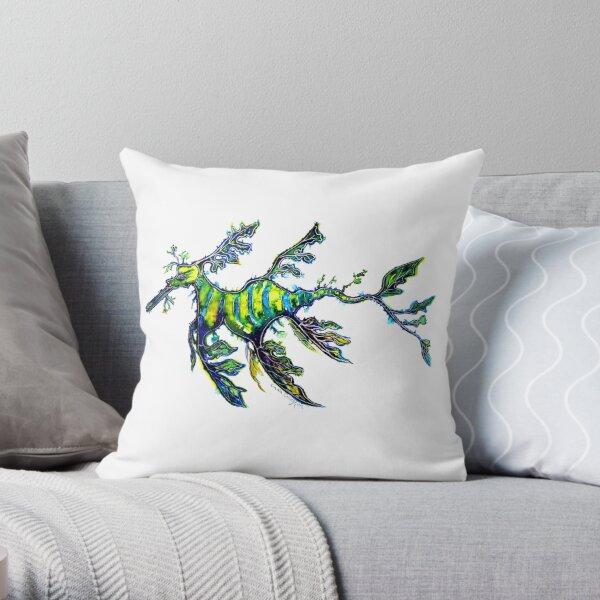Leafy Seadragon Throw Pillow
