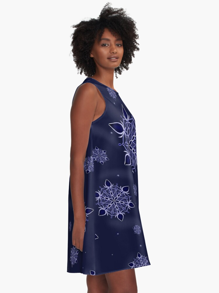 Alternate view of Silver and Sapphires A-Line Dress