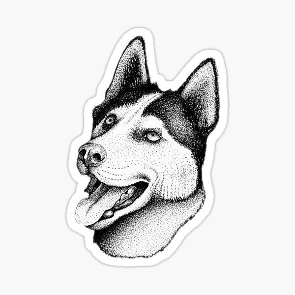 Husky Head Sticker Sticker