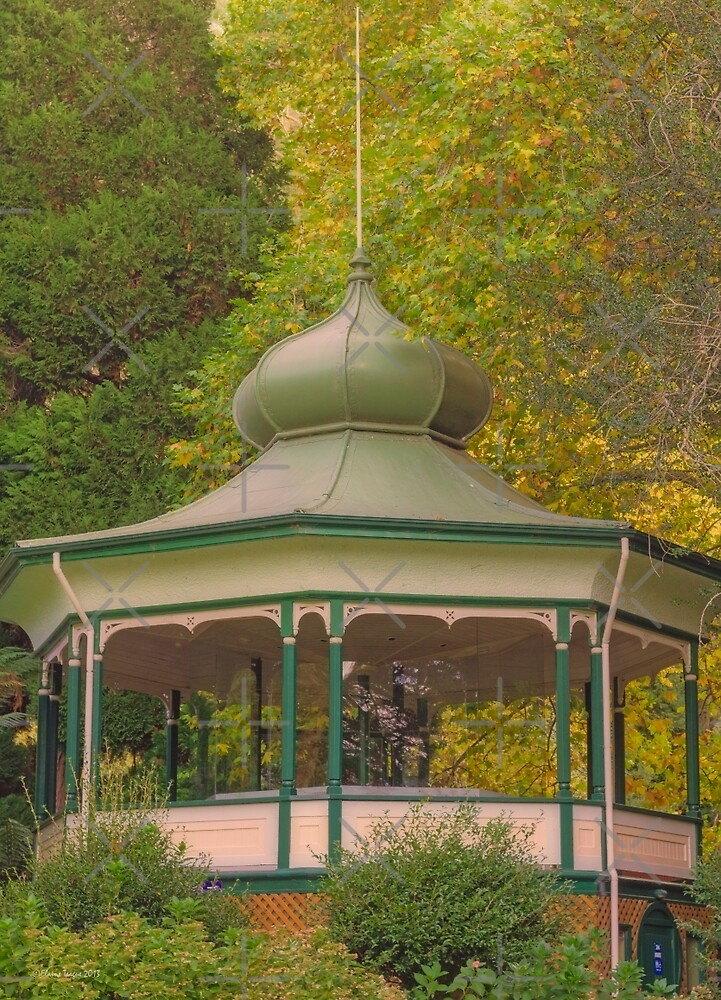 Pagoda in the Park by Elaine Teague