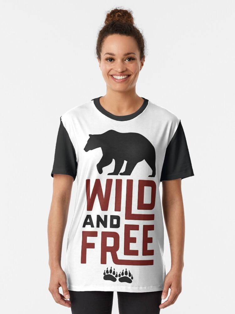 Alternate view of Wild & Free Graphic T-Shirt