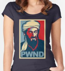 PWND - Osama Bin Laden Women's Fitted Scoop T-Shirt