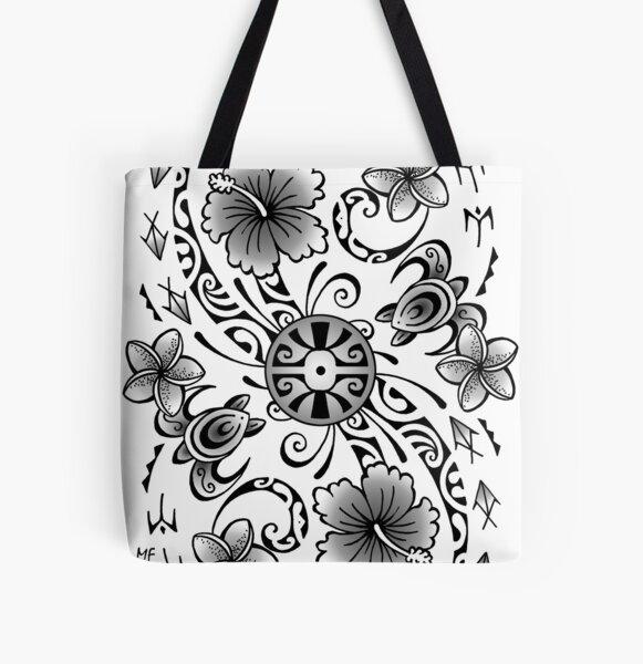 Polynesian tatto art All Over Print Tote Bag