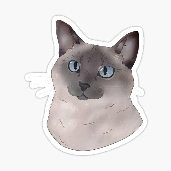 Martini Siamese Cat Sticker